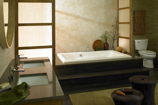 Baño principal de estilo asiático