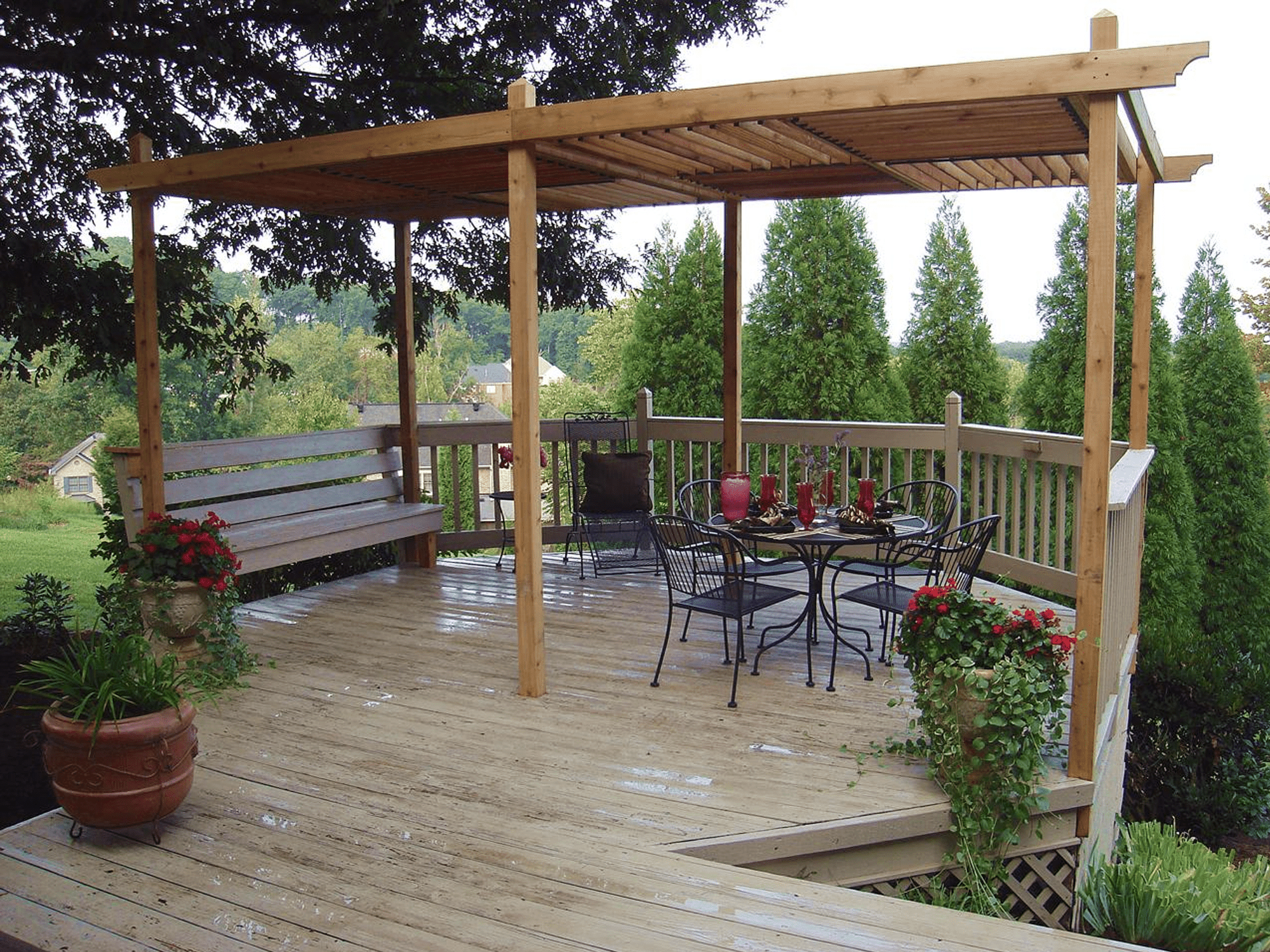 Backyard With Pergola 17 free pergola plans you can diy today