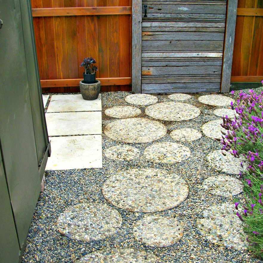 round aggregate pavers