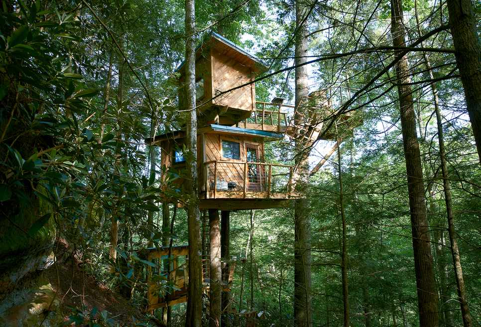 Two level tree house for adults
