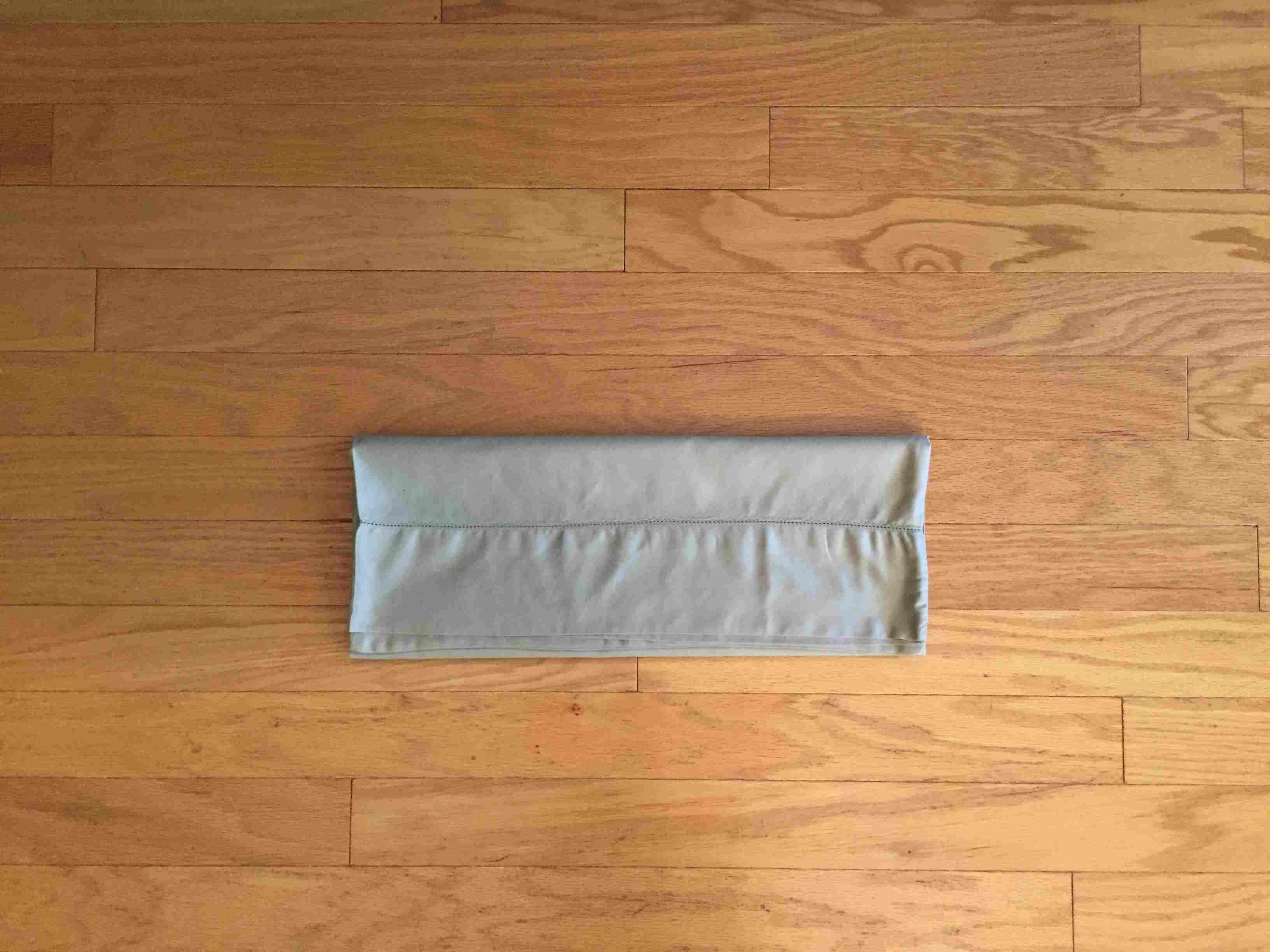 Duvet cover folded in fourths