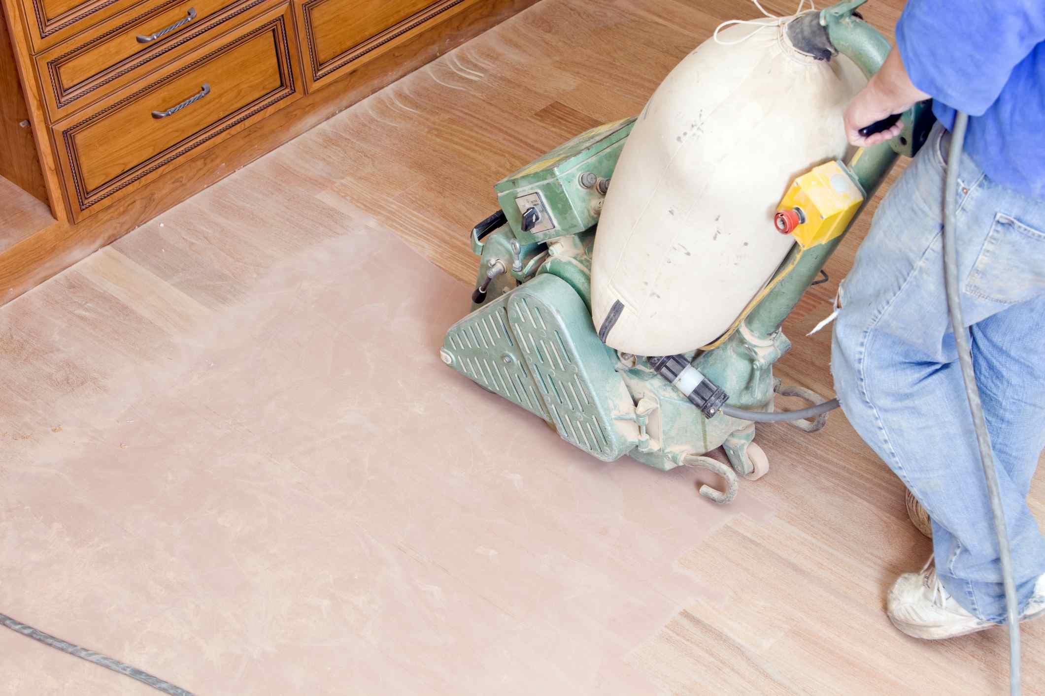 drum sander to sand wood floors