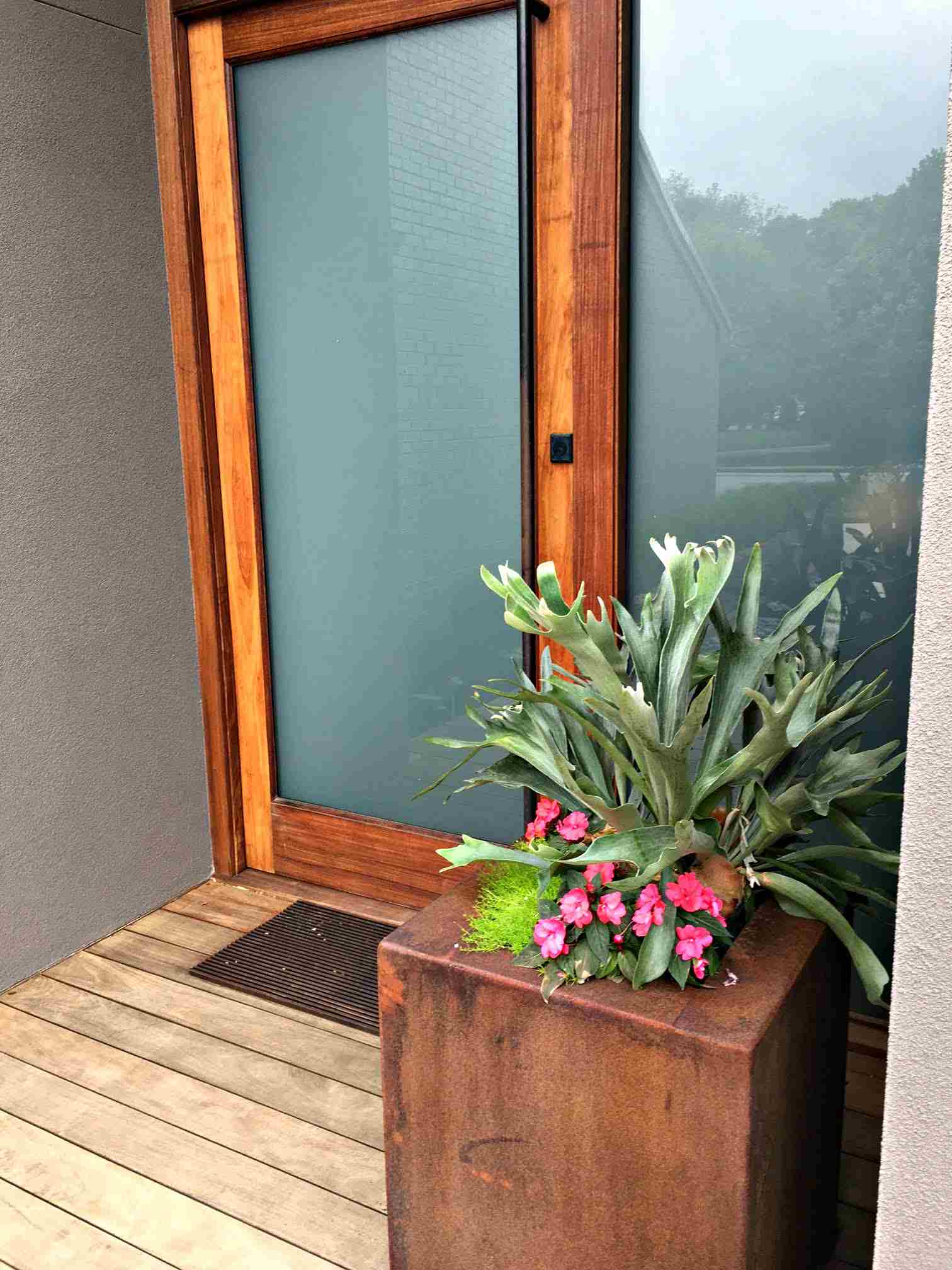 front porch modern home