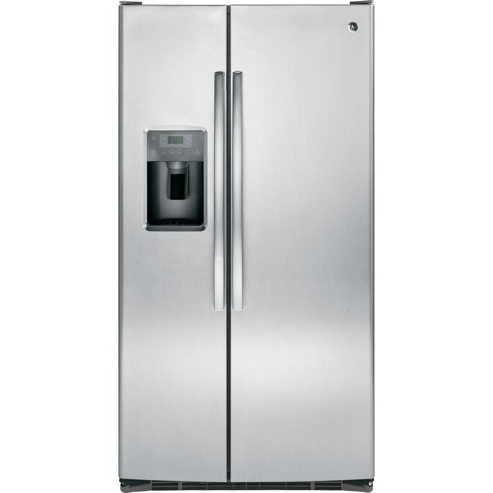 GE 25.4 cu. ft. Side by Side Refrigerator in Stainless Steel