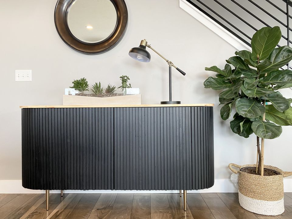 IKEA hack for Crate & Barrel-inspired sideboard
