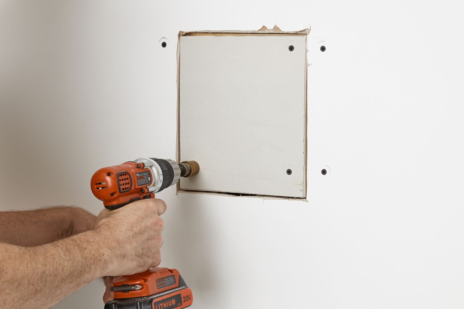 installing drywall patch