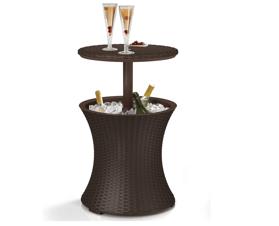 Keter Pacific Cool Bar Outdoor Patio Furniture and Hot Tub Side Table