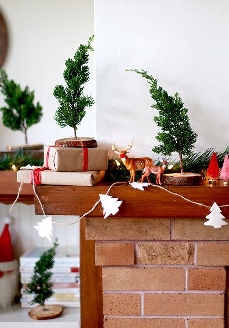 mini christmas trees - Modern Christmas Decor