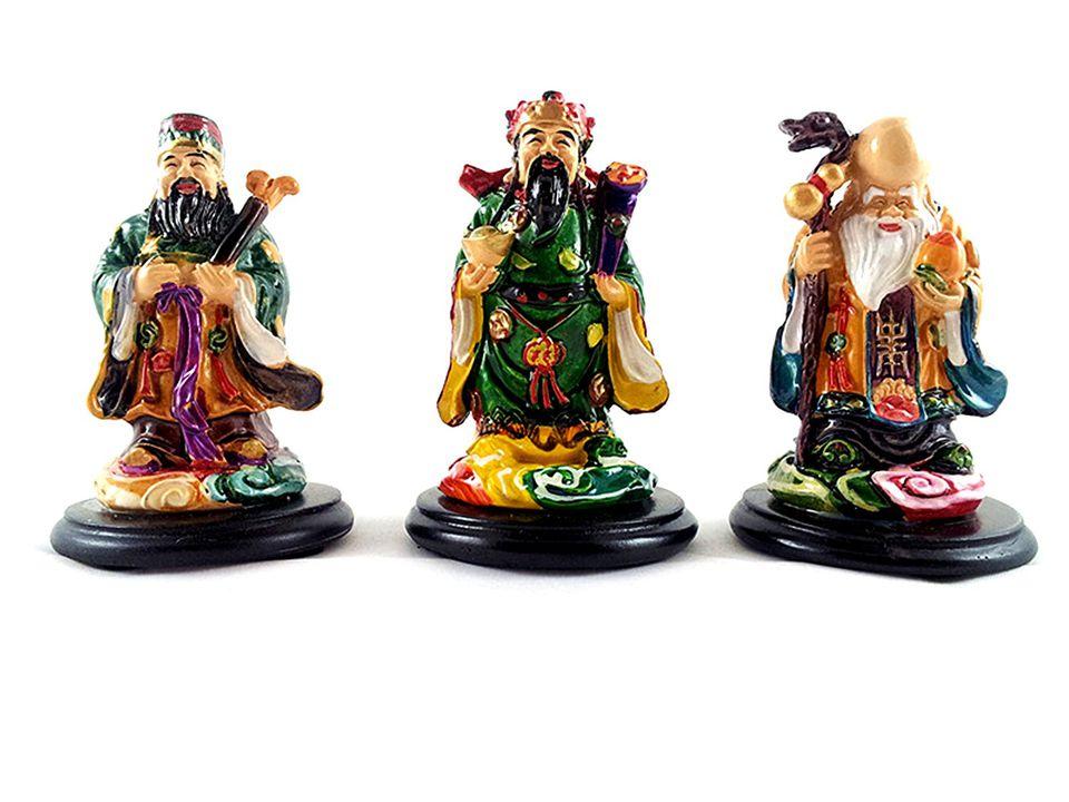 Feng shui wealth gods: Fuk Luk Sau