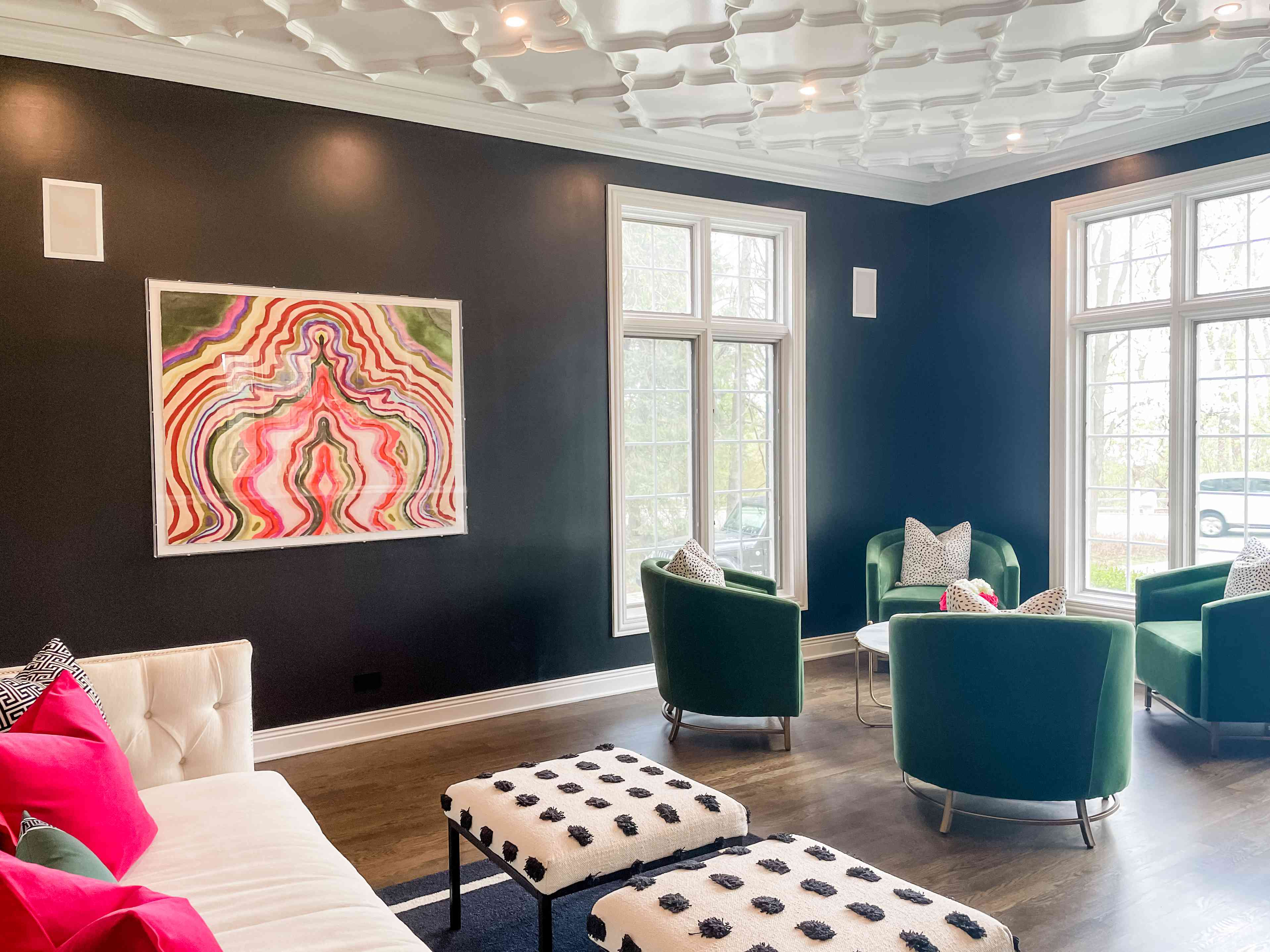 Art hung on wall 57 inches above the floor by Kristine Kohut