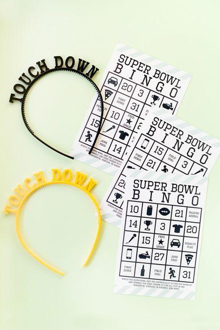 DIY Super Bowl Bingo