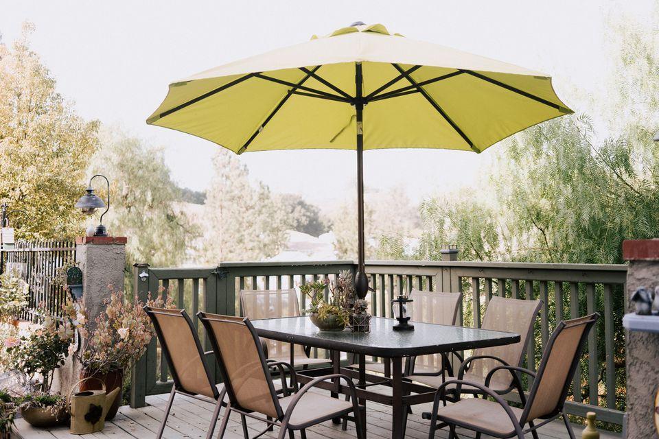 umbrella on a patio