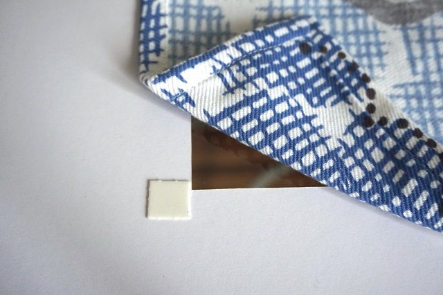 Fabric secured with tape