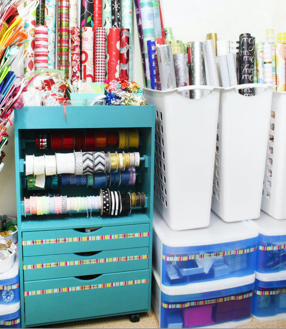 wrapping paper closet
