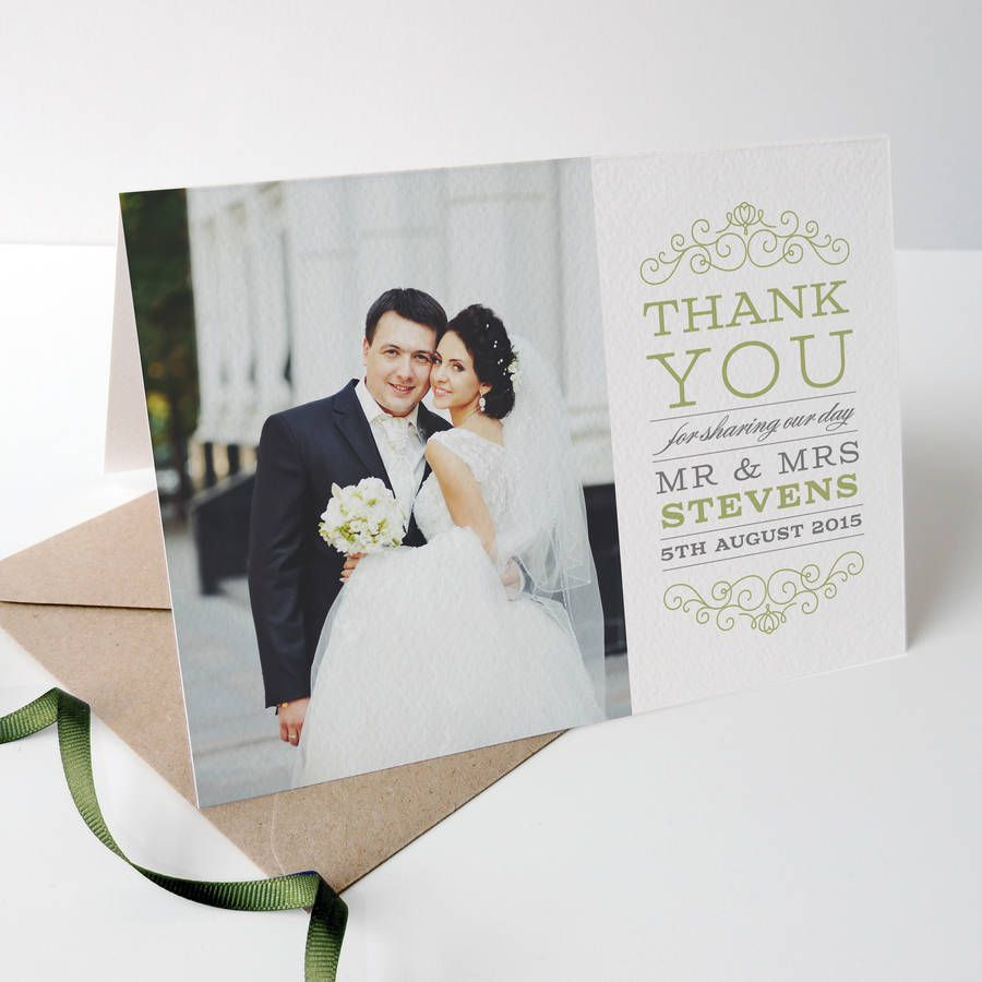 photo wedding thank you cards - Wedding Thank You Cards