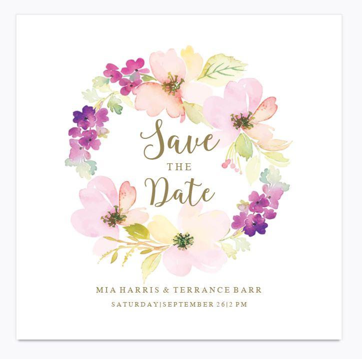 11 free save the date templates sentimental circle save the date from greetings island a watercolor floral wreath that says greetings island m4hsunfo