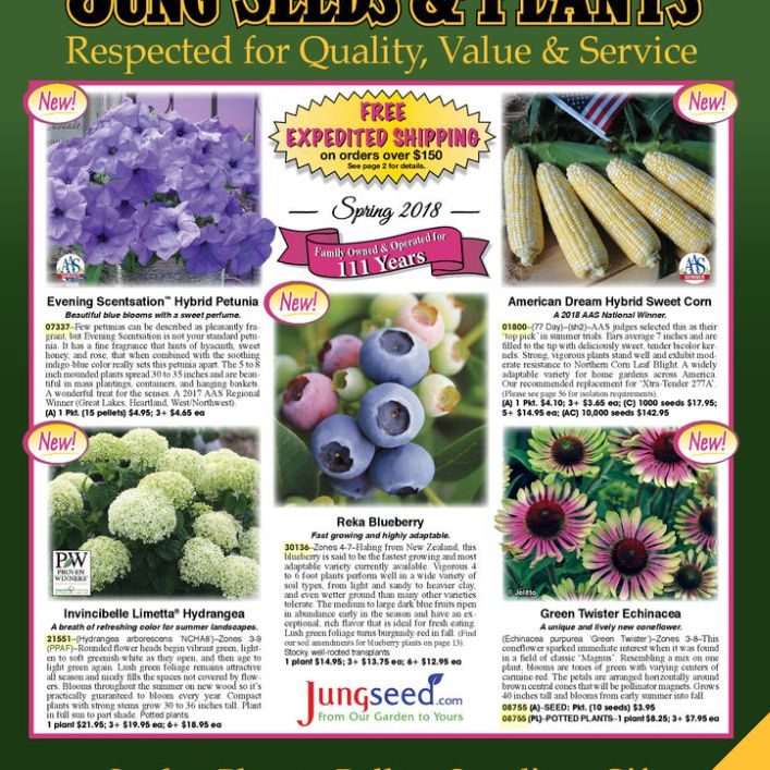 The Cover Of 2018 Jung Seed Plants Catalog