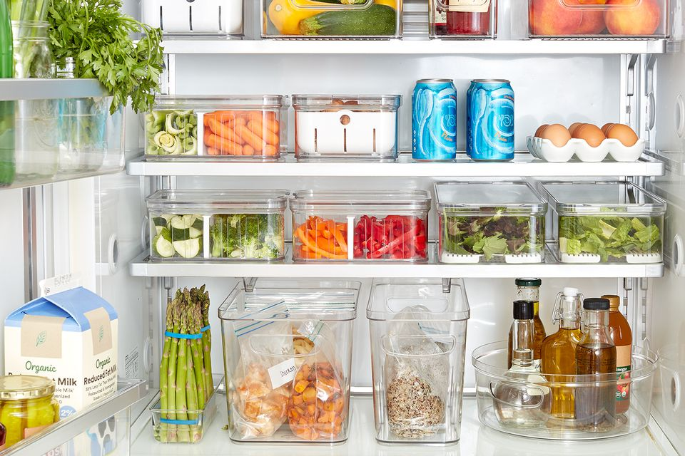 organized fridge interior