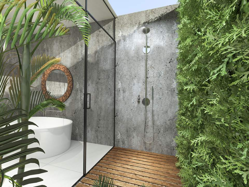 Modern Tropical Bathroom