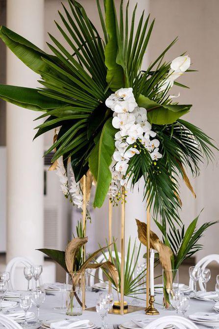 Centro de mesa de boda Orchid Spring