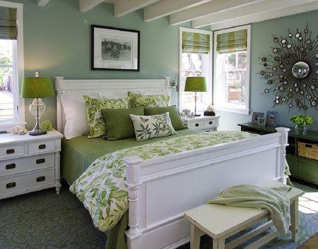Relaxing Green Bedroom Viscusi Elson Interior Design