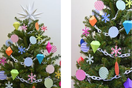 paper christmas tree decorations. Deirdre Sullivan