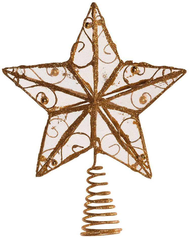 Kurt Adler Gold Wire Star Treetop