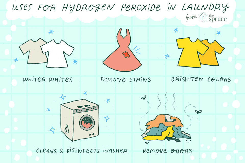 uses for hydrogen peroxide in laundry