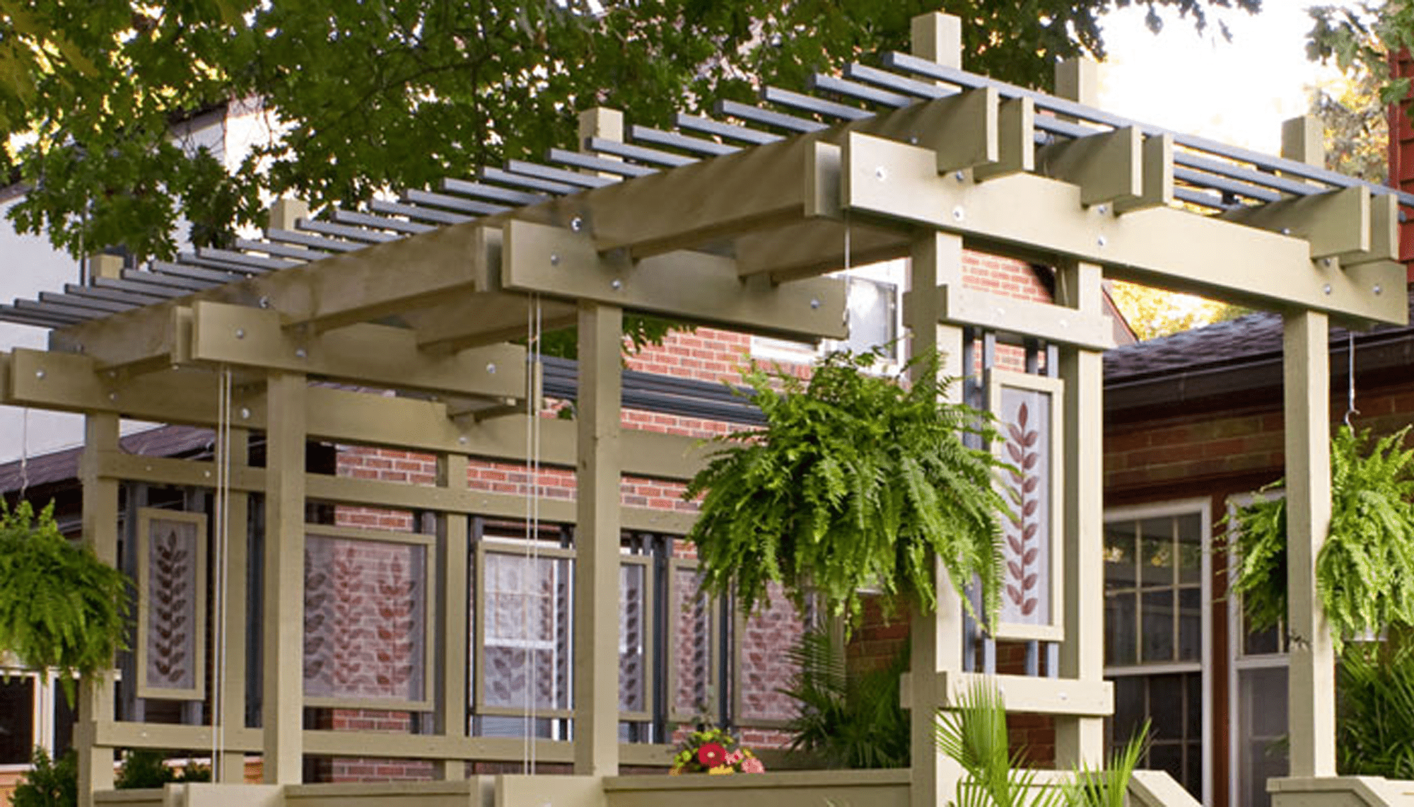 building a pergola on a deck deck pergola plan from lowes 17 free plans you can diy today