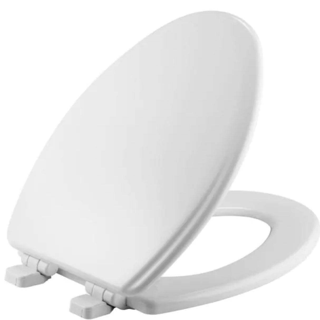 Jamestown Adjustable Slow Close Elongated Closed Front Toilet Seat in White