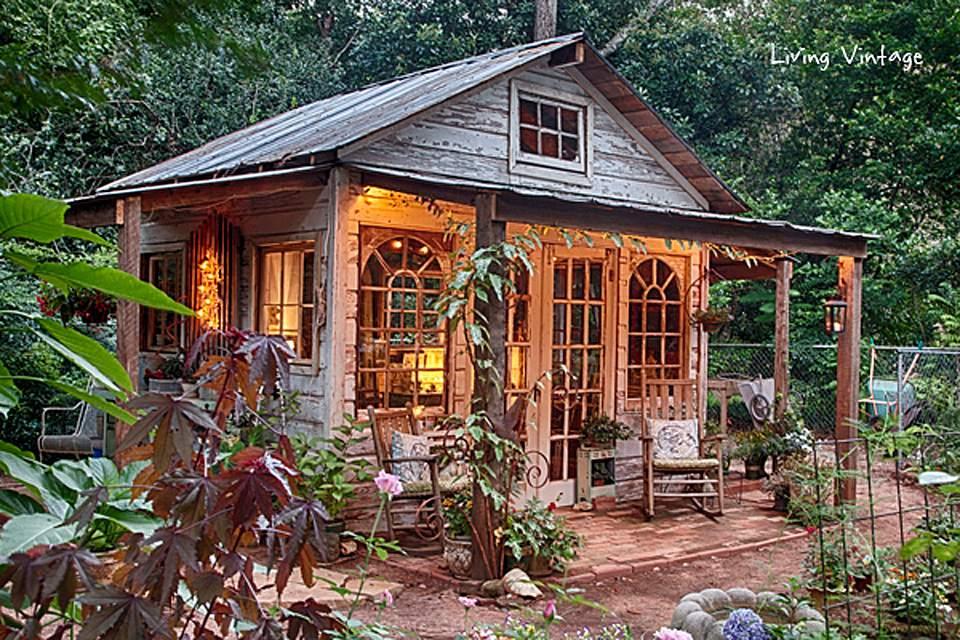 Cobertizo de jardín elegante