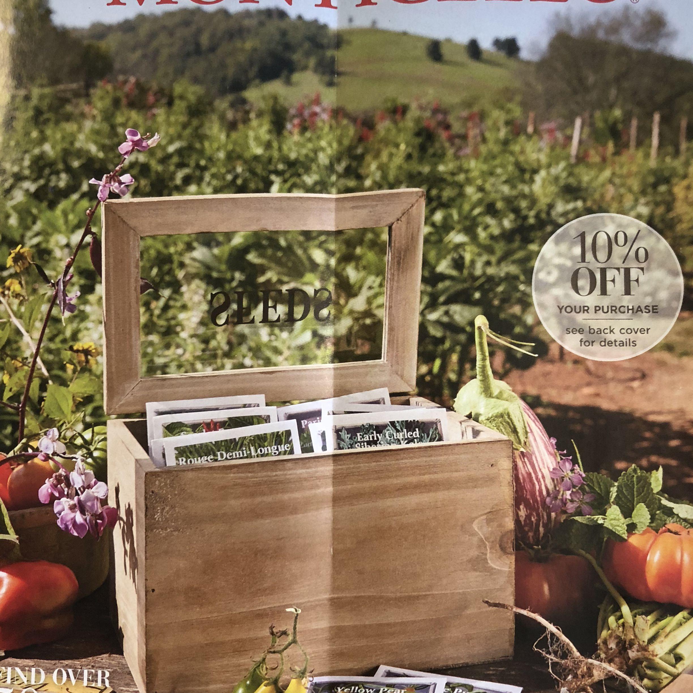 La primavera de 2018 Catálogo de semillas Monticello