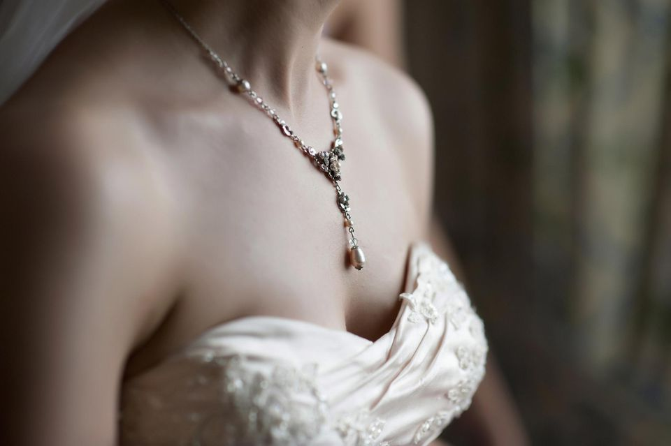 Detail of bride waiting