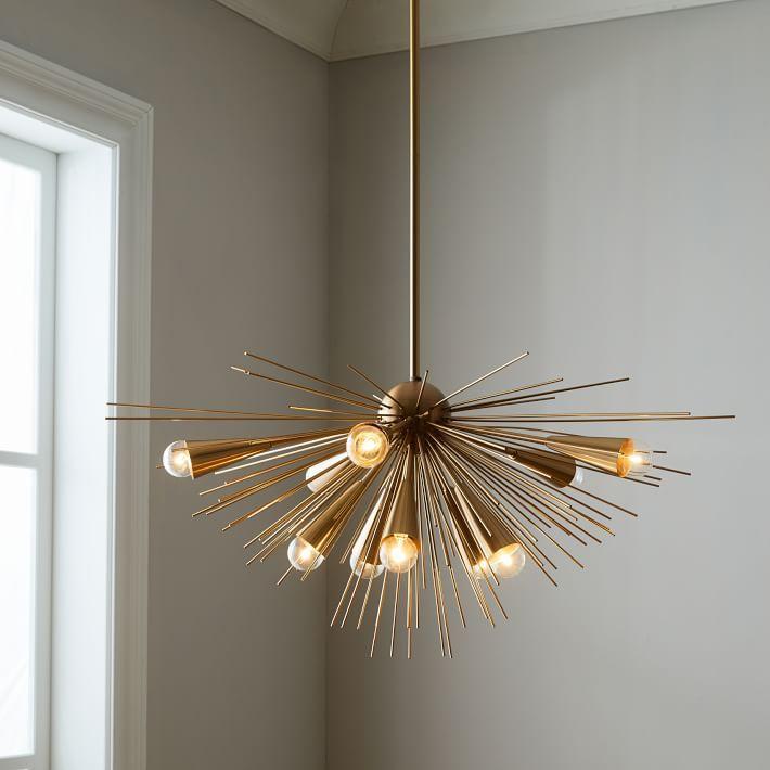 sputnik style chandelier