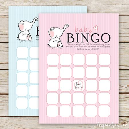 29 sets of free baby shower bingo cards a pink and blue baby shower bingo card with elephants on them maxwellsz