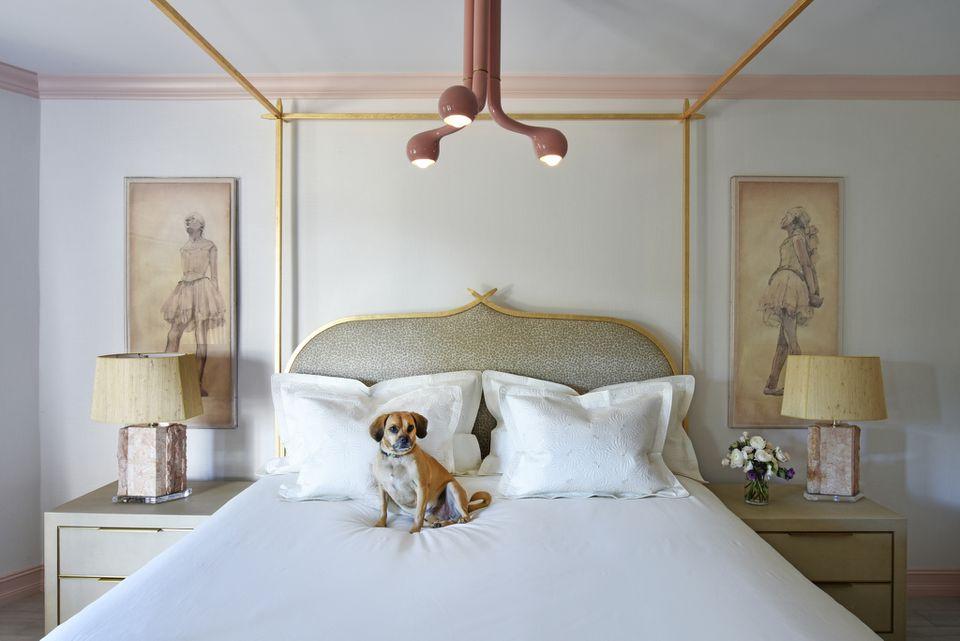 white retro bedroom