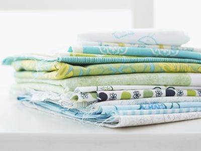 Kid-friendly fabric for making DIY removable wallpaper.