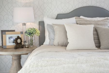 Decorate The Bedroom With Gray Plus Creamy White And Tan