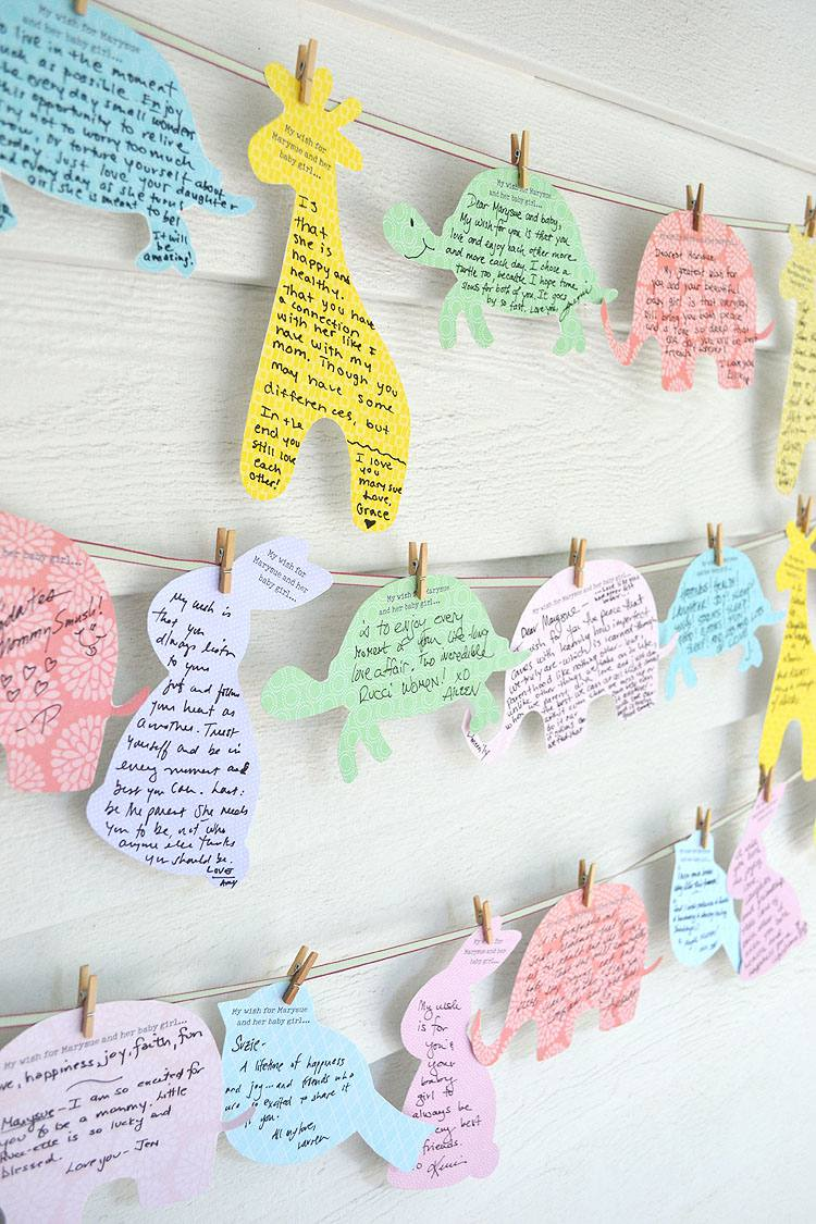 DIY Wishes For Baby Activity
