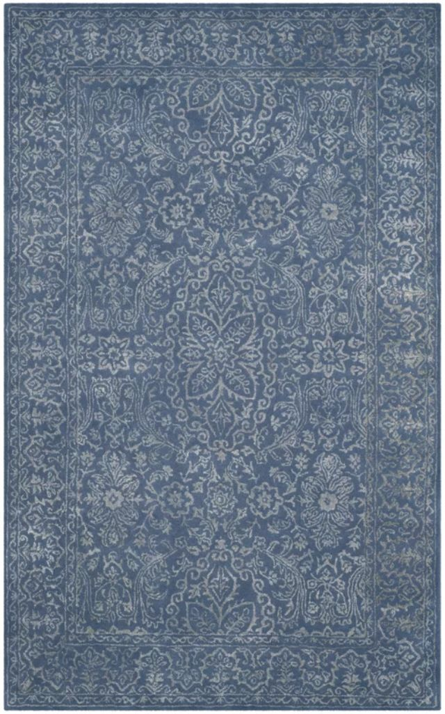 Wilkins Hand-Tufted Gray/Blue Area Rug