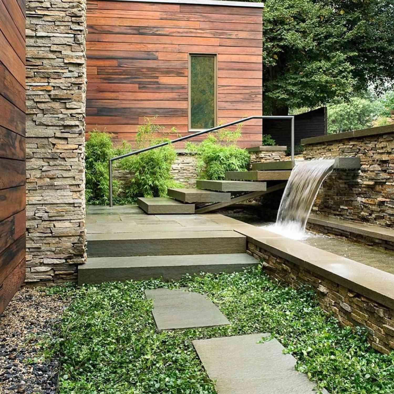 modern stone landscape design