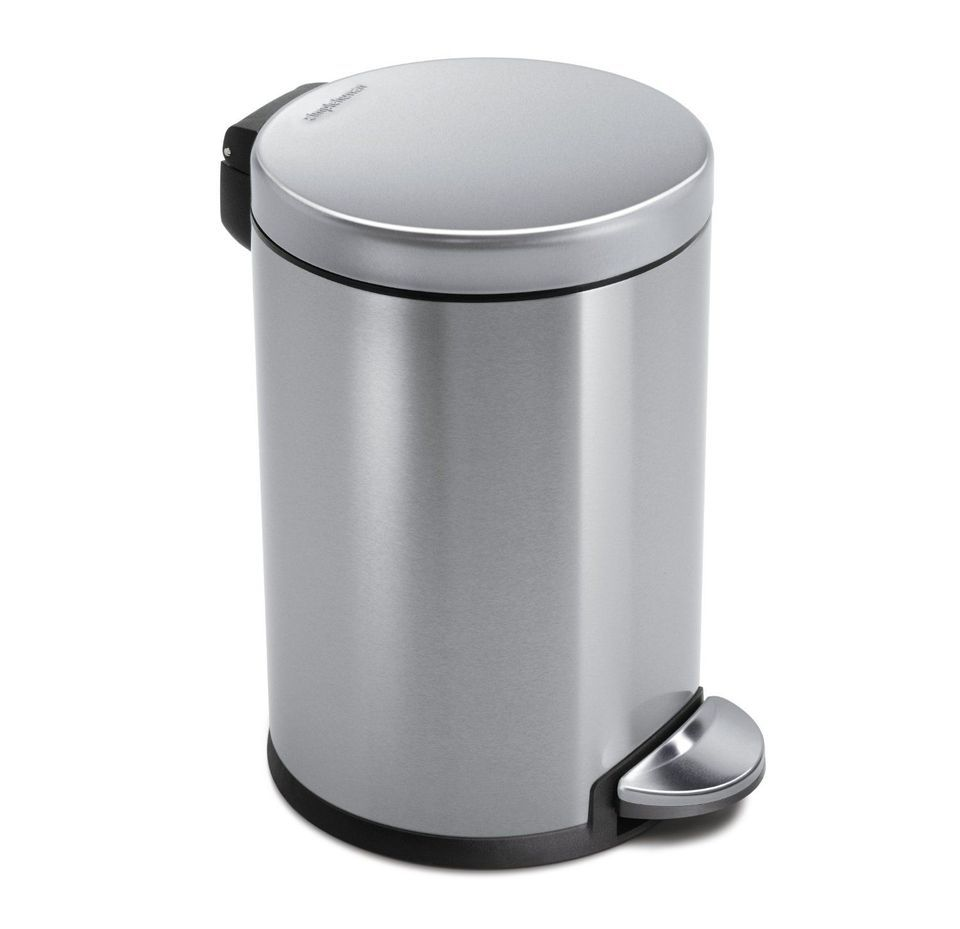 Best Bathroom Trash Can Simplehuman Mini Round Step Stainless Steel