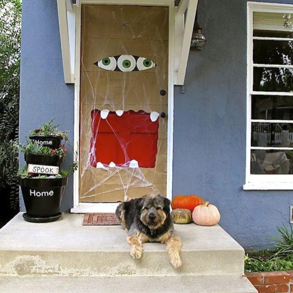 Halloween door monster