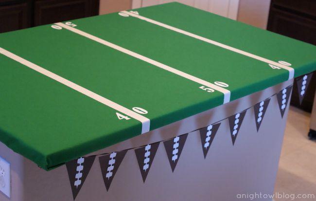 Cubierta de la mesa del campo de fútbol de bricolaje
