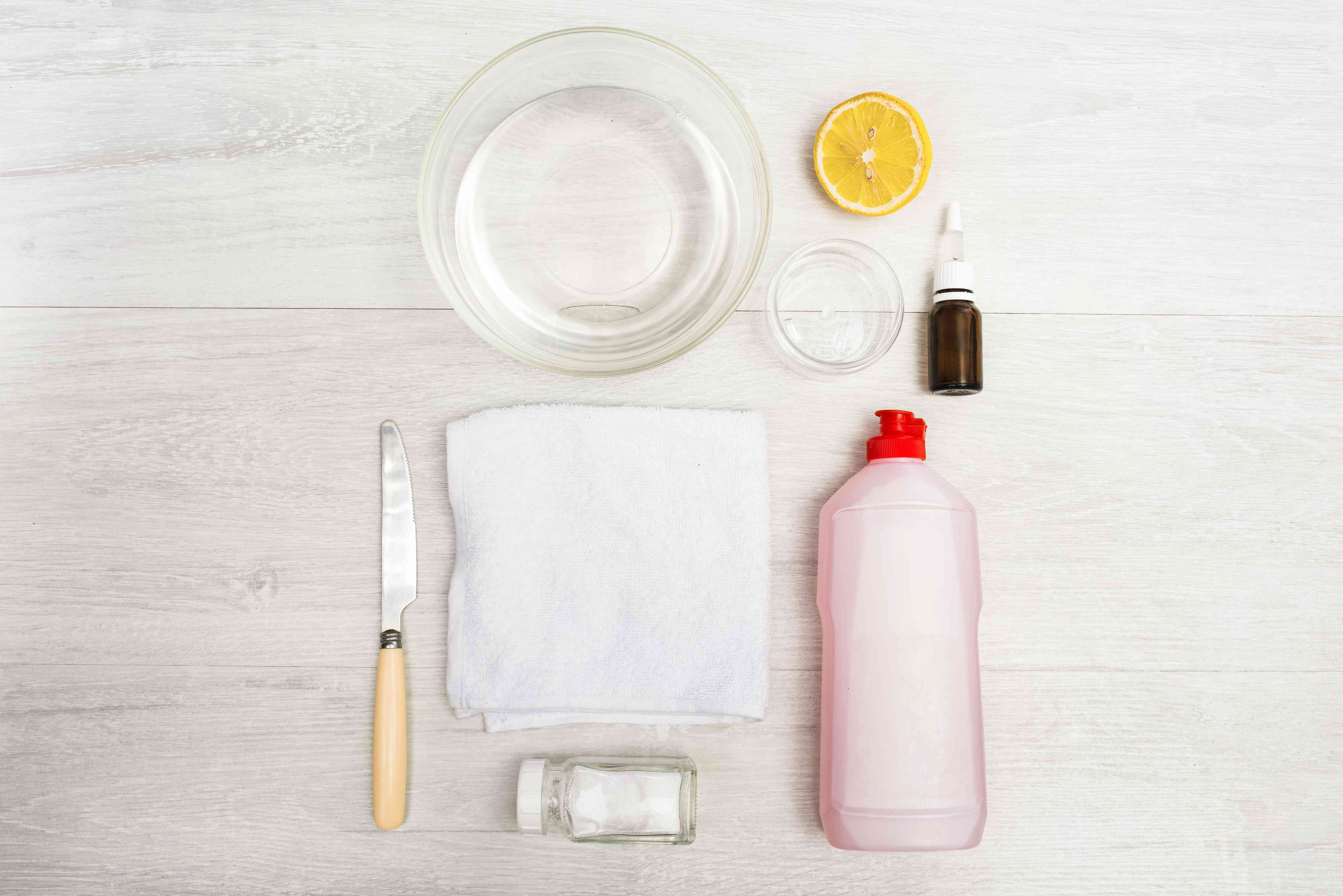 materials for getting rid of rust stains