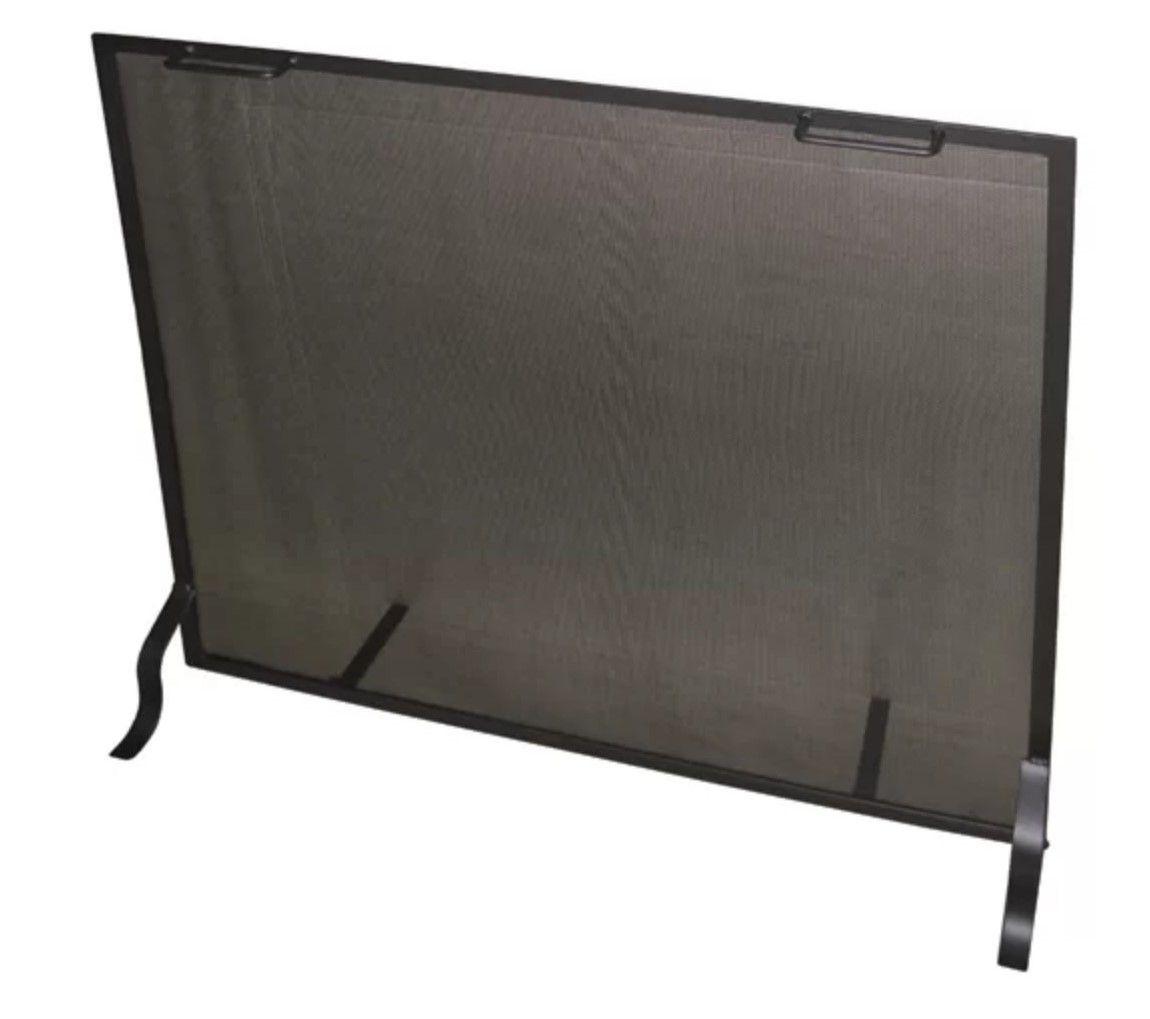Symple Stuff Cicero Single Panel Steel Fireplace Screen