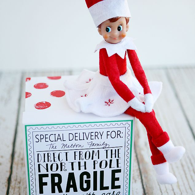 Arrival ideas for elf on the shelf