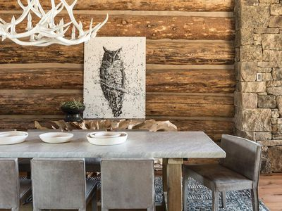Rustic dining table with reclaimed wood