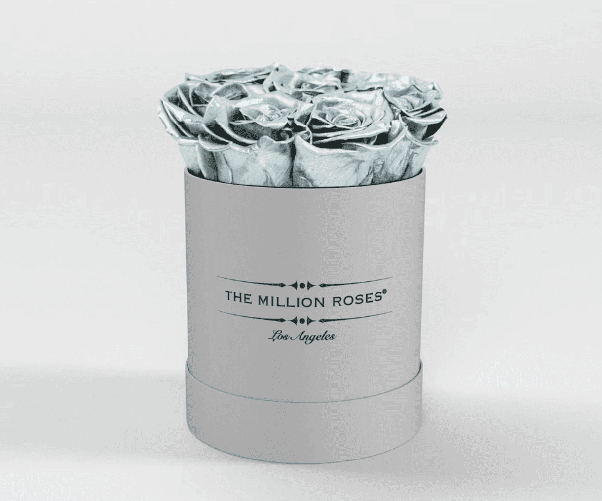 ( LA ) White - Basic Box with Silver Roses