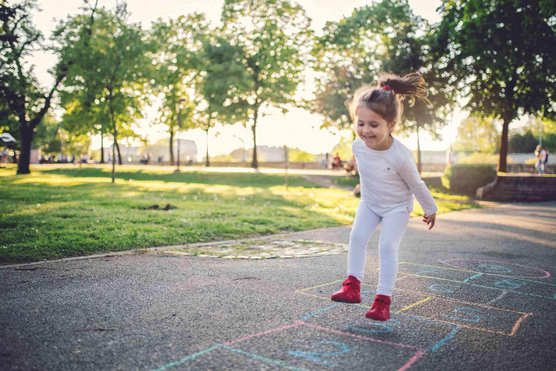 Happy child on a playground